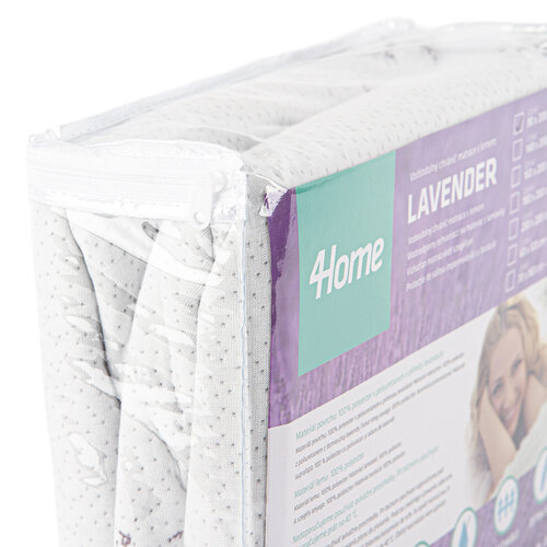 4Home Lavender Wodoodporny ochraniacz  na materac z lamówką, 200 x 200 cm + 30 cm