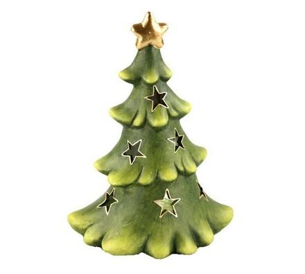 Stojánek na čajovou svíčku - vánoční stromek