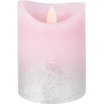LED svíčka Swing flame růžová, 10 cm