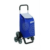 Gimi Nákupná taška na kolieskach Tris Floral modrá, 56 l