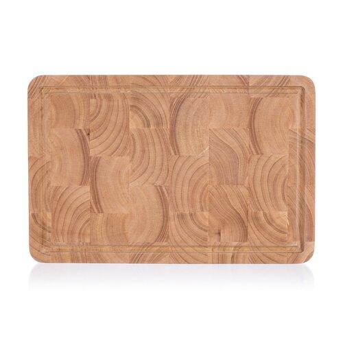 Banquet Doštička krájacia drevená Brillante Rubberwood 38 x 25 x 3 cm
