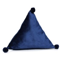 Domarex Polštář pyramida Trevi Velvet modrá, 40 x 40 x 40 cm