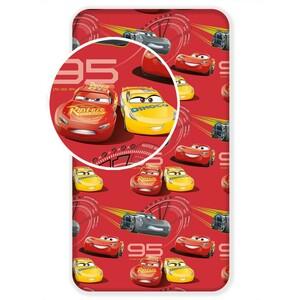 Jerry Fabrics Dětské bavlněné prostěradlo Cars 3, 90 x 200 cm