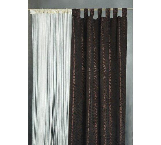 Závěsy PALME, 140 x 250 cm, hnědé, bílá + hnědá, 140 x 250 cm