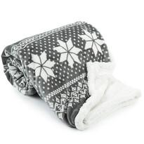 Winter bolyhos takaró, szürke, 150 x 200 cm