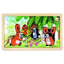 Bino Puzzle Krtko a zajačiky, 15 dielikov