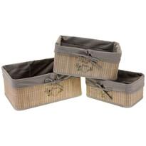 Tároló bambusz kosár készlet, 3 db-os