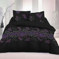 Saténové povlečení Victoria černá Luxury Collectio