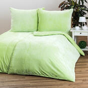 Obliečky Mikroplyš zelená, 140 x 200 cm, 70 x 90 cm