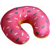 Poduszka rogal Donut różowy, 30 x 30 cm