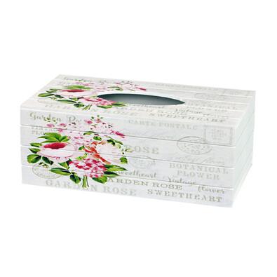 Cutie de şerveţele Garden rose, 24,5 cm