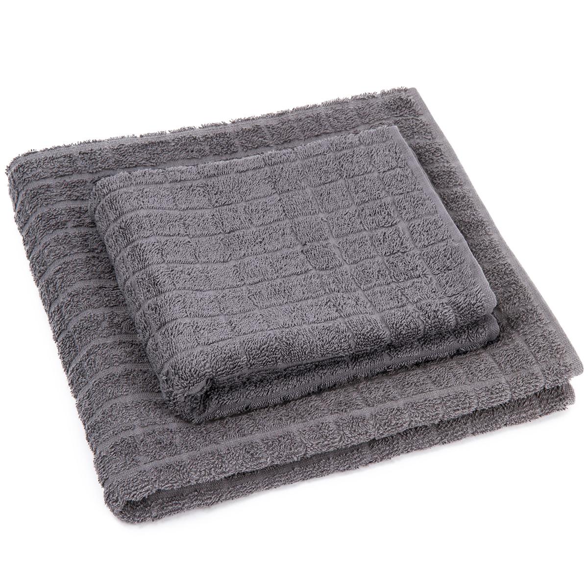 Profod Sada ručníku a osušky Jerry šedá, 50 x 100 cm, 70 x 140 cm