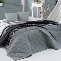BedTex Narzuta na łóżko Eifel szary, 220 x 240 cm, 2x 40 x 40 cm