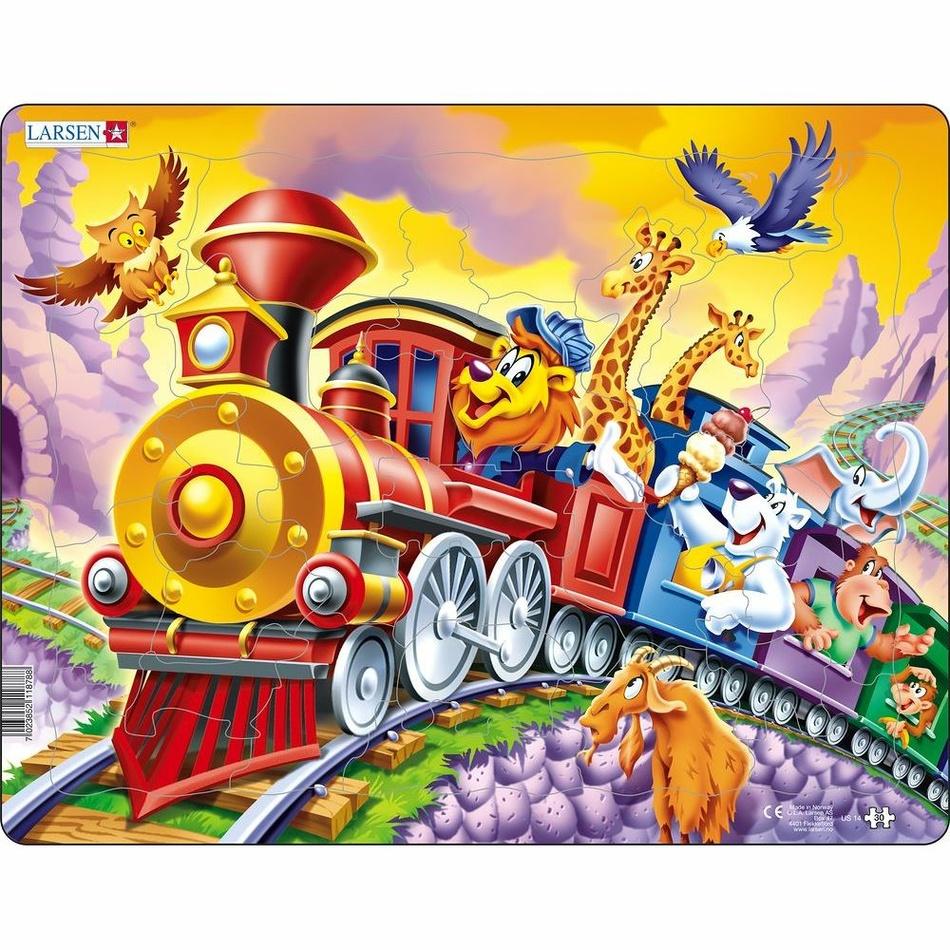 Larsen Puzzle Cirkusový vlak, 30 dílků