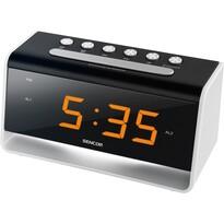 Ceas LED Sencor SDC 4400 W, cu alarmă, negru