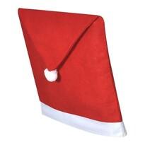 Domarex Vianočný poťah na stoličku Santa, 65 x 50 cm, sada 2 ks