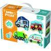 Trefl Puzzle, Baby közlekedési eszközök, 4 db