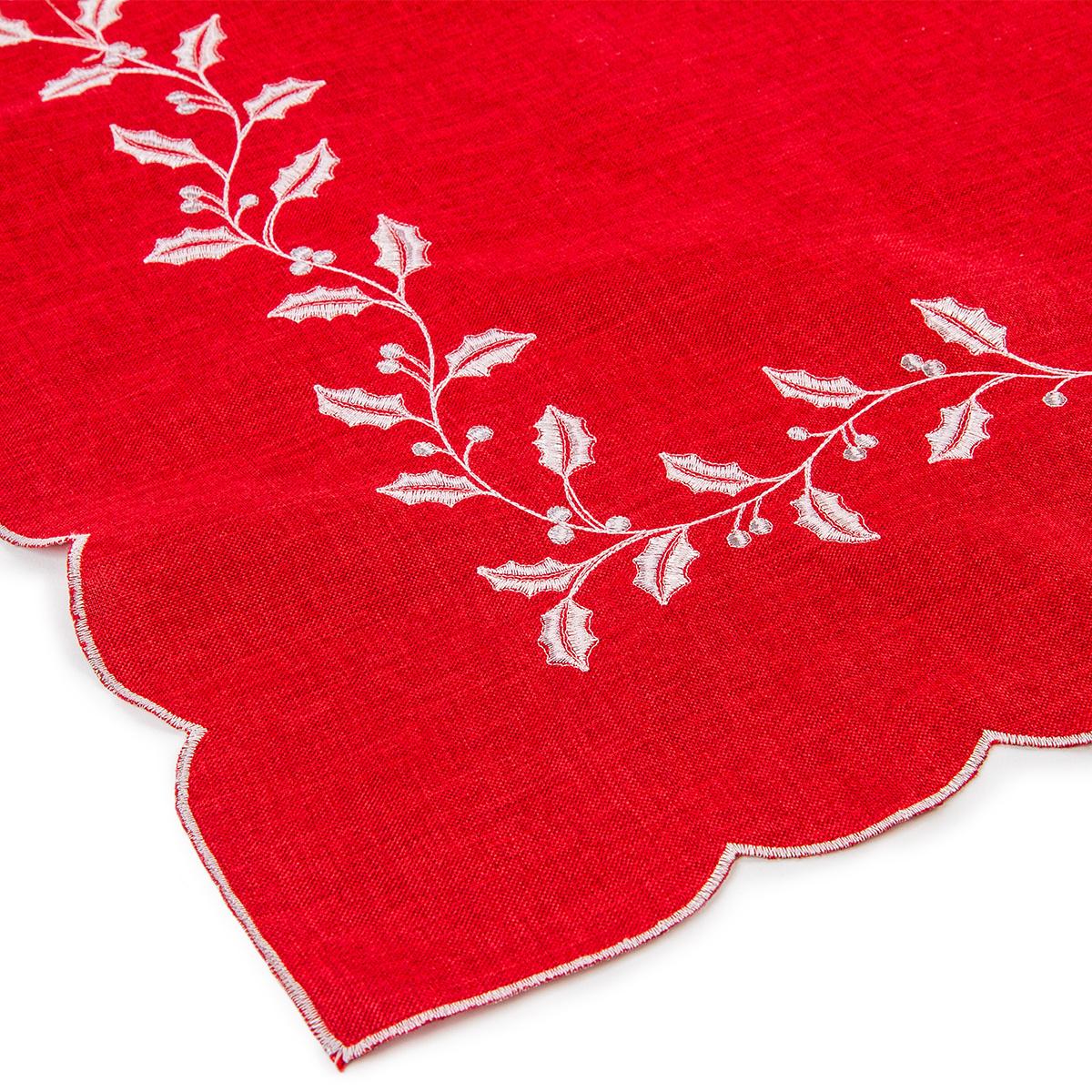 Vánoční ubrus Cesmína červená, 30 x 45 cm