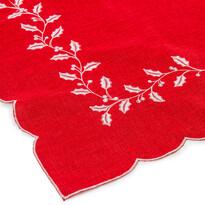 Vianočný obrus Cezmína červená, 30 x 45 cm