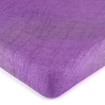 Cearșaf de pat 4Home, din frotir, violet