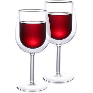 4home Termo sklenice na víno Hot&Cool, 300 ml, 2 ks