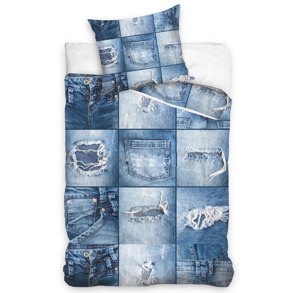 BedTex Bavlnené obliečky Džíny, 140 x 200 cm, 70 x 90 cm