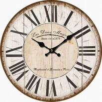 Drewniany zegar ścienny Les Deux, śr. 34 cm