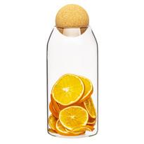 4Home Cork üveg élelmiszer tároló fedéllel1,1 l