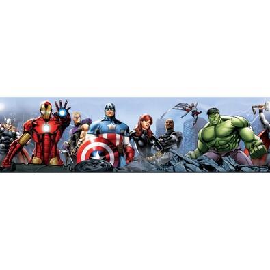 Samolepicí bordura Avengers, 500 x 14 cm
