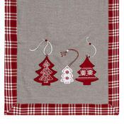 Vánoční ubrus Vánoční stromek červená, 40 x 90 cm