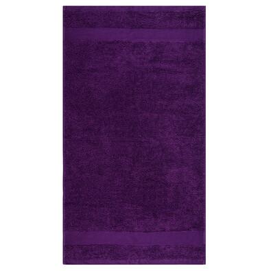 Ručník Olivia fialová, 50 x 90 cm