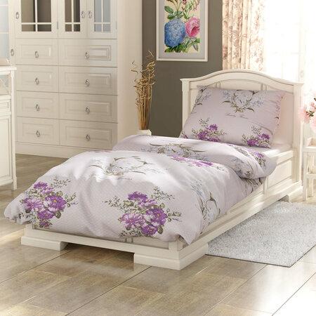 Kvalitex Bavlněné povlečení Provence Beatrice fialová, 220 x 200 cm, 2 ks 70 x 90 cm
