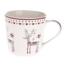 Vianočný porcelánový hrnček Jeleň, 400 ml