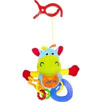 Baby Mix Plyšová hračka s hryzátkami Hrošík, 18 cm