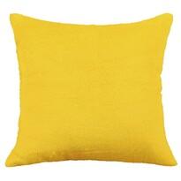 Poduszka- jasiek Korall mikro, żółta, 38 x 38 cm