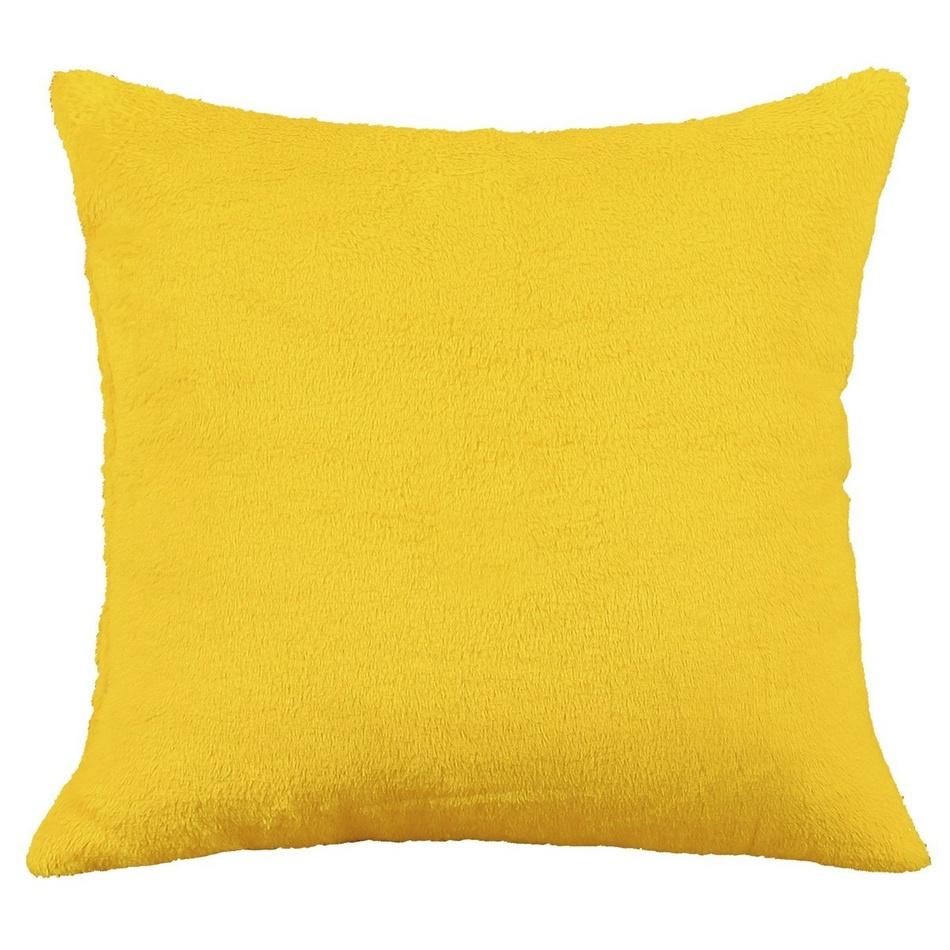Bellatex vankúšik Korall micro, žlutá, 38 x 38 cm