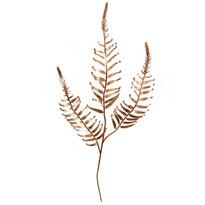 Veľká dekoratívna vetvička papradie, zlatá, v. 70 cm
