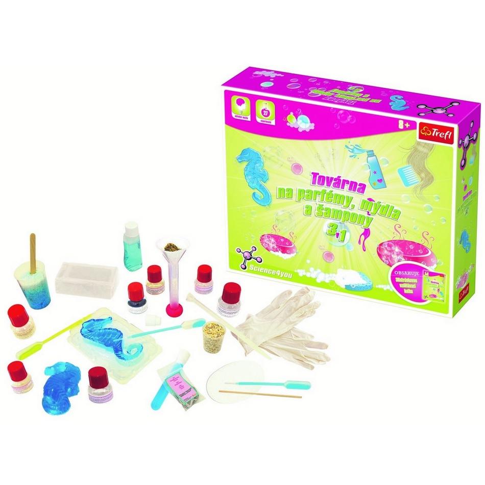 Trefl Science 4 You Továrna na parfémy mýdla a šampony 3 v 1