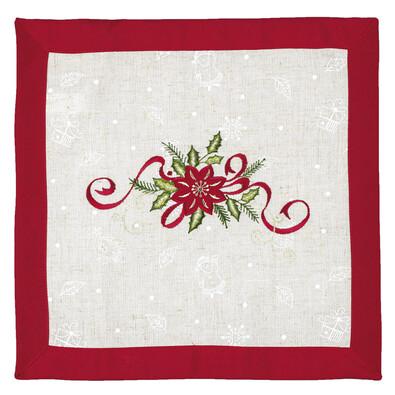 Vánoční ubrus Hvězda, 35 x 35 cm