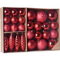 Koopman Sada vianočných ozdôb Terme červená, 31 ks