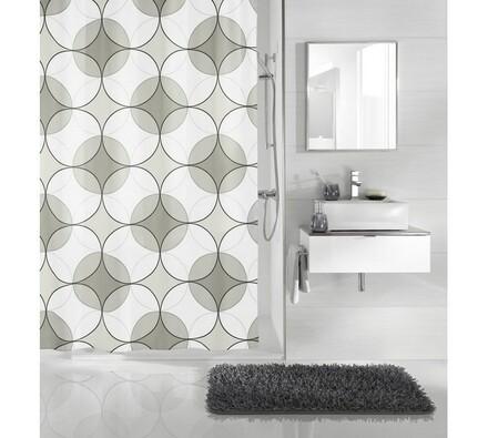 Zasłona prysznicowa Retro Meusch szara, 180 x 200cm