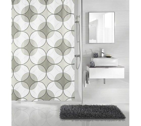 Koupelnový závěs Retro, anthrazit, Meusch, 180 x 200 cm
