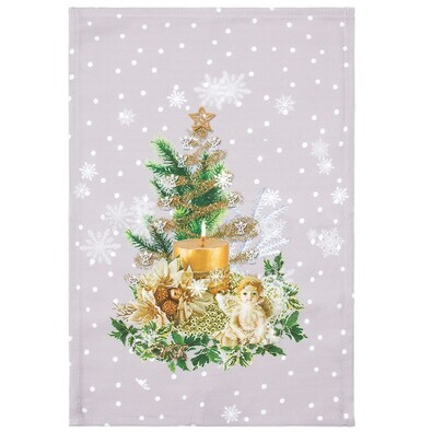 Karácsonyfa karácsonyi abrosz, 30 x 45 cm