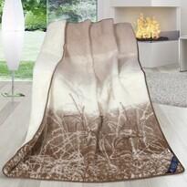 Pătură din lână merinos australian, naturală, 155 x 200 cm
