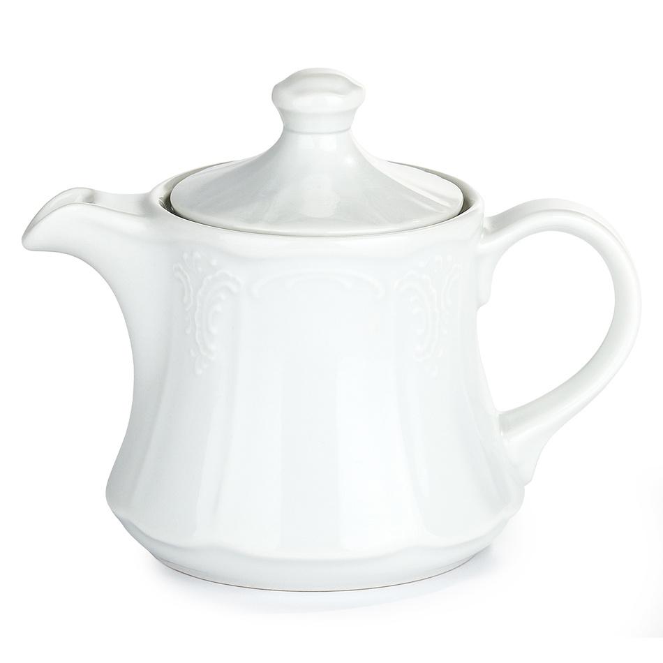 """Konvice čajová s víčkem dekor """"kytky"""""""