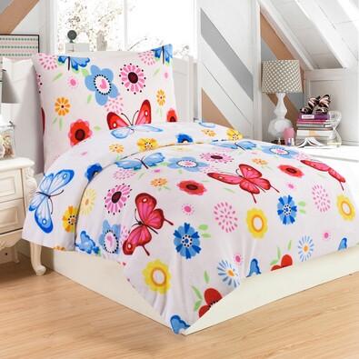 Butterfly mikroplüss ágynemű, 140 x 200 cm, 70 x 90 cm