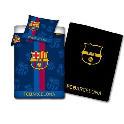 Svítící bavlněné povlečení FC Barcelona, 140 x 200 cm, 70 x 80 cm