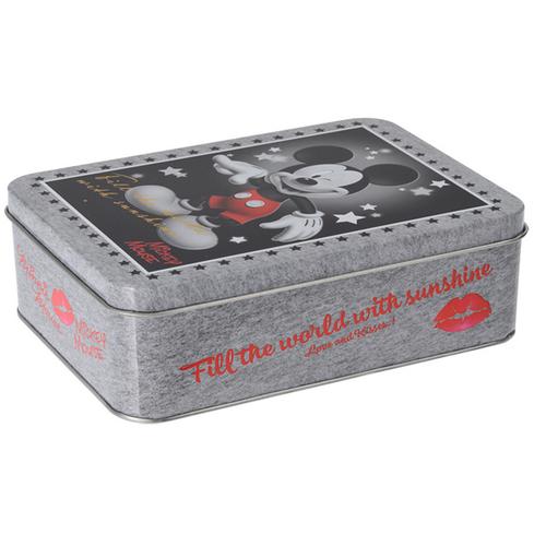 Mickey Mouse Úložný plechový box Mickey, sivá