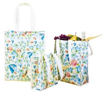 Textilní tašky na nákup, vícebarevná
