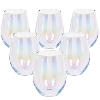 Duhová sklenice 500 ml, 6 ks
